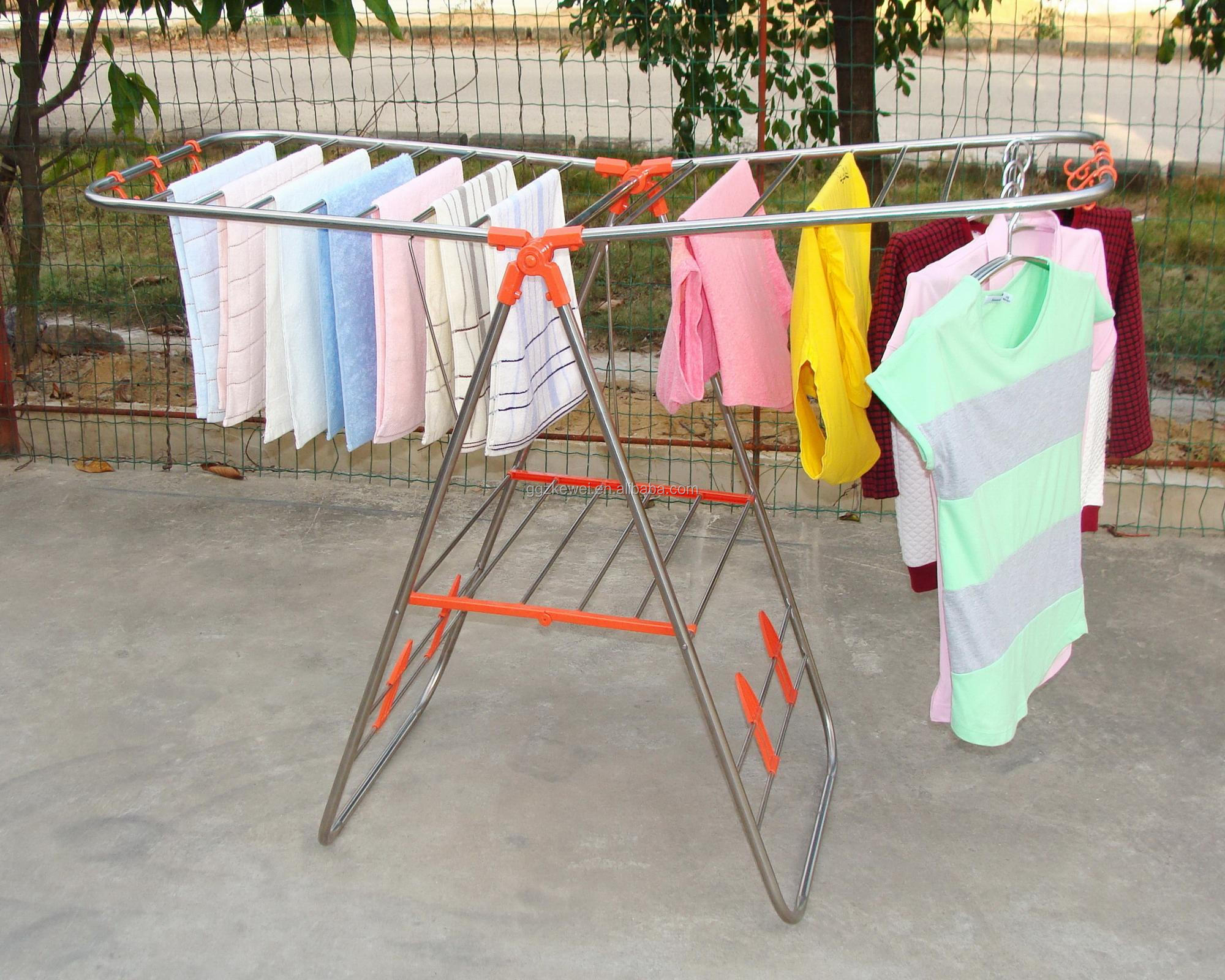Stainless Steel Foldable Clothes Hanger Rack Manufacturer Wholesale MR-6018Y-O