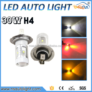 2PCS/set Car H4 LED Fog Light 30W Auto Led Daytime Running Lights Fog Lamp 360 Degree DRL Bulbs DC12V~24V LEDS