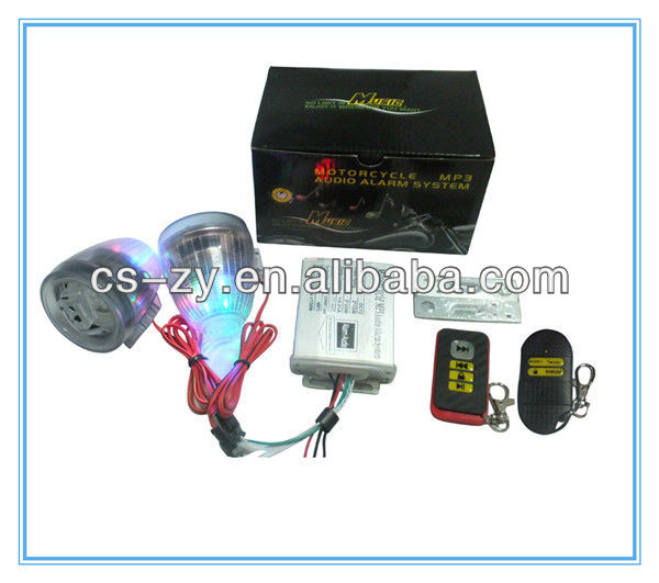 motorcycle fm radio waterproof/motorcycle mp3 audio anti-theft alarm system