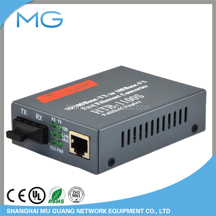 free shipping drop shipping 2sets/lot Fast Ethernet Fiber Optic Media Double-Mode Converter HTB-1100 25KM