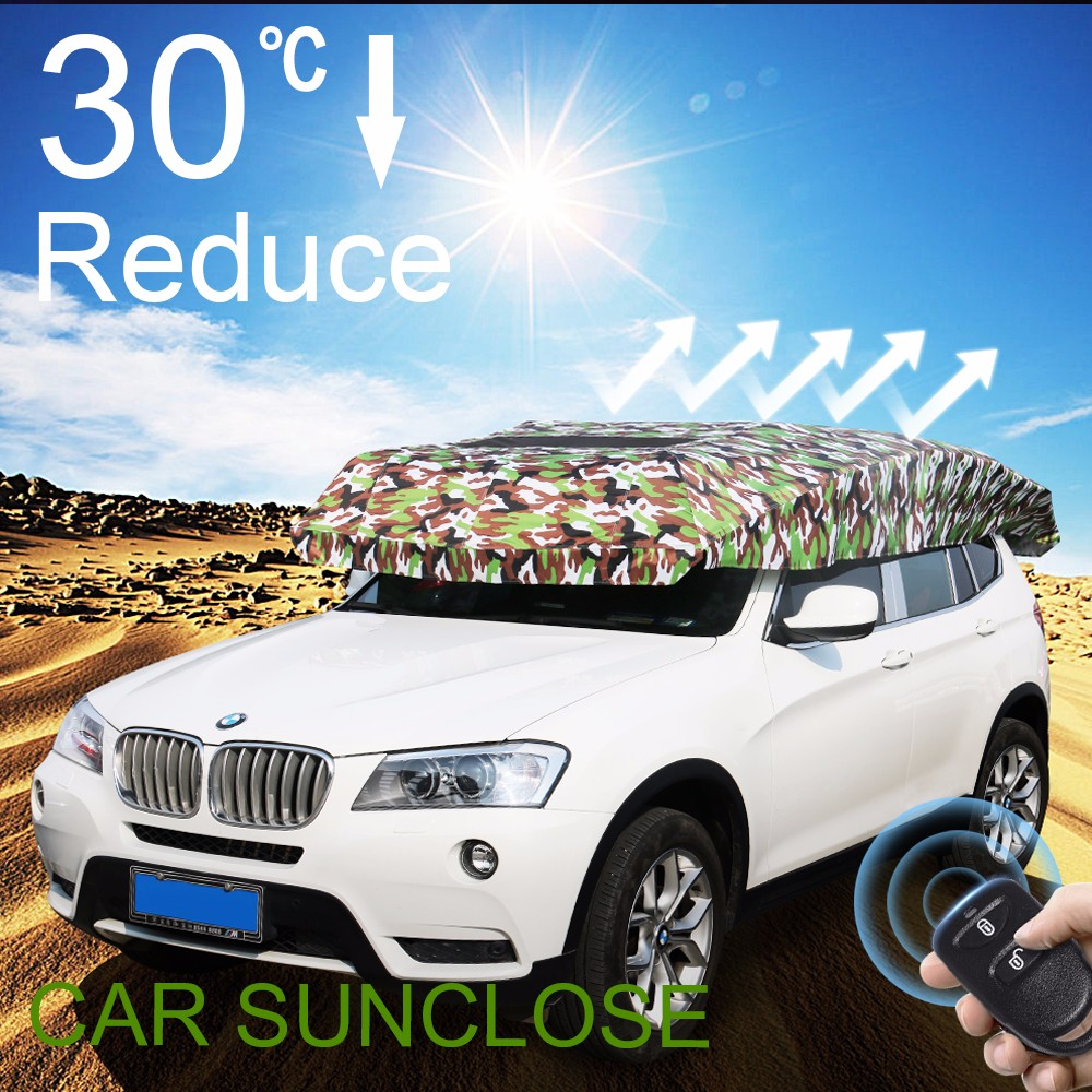 SUNCLOSE Factory folding garage for coupe car auto sunscreens for windshield stainless steel flexible exhaust pipe