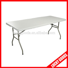 cream white hot sale 6ft folding table wholesale