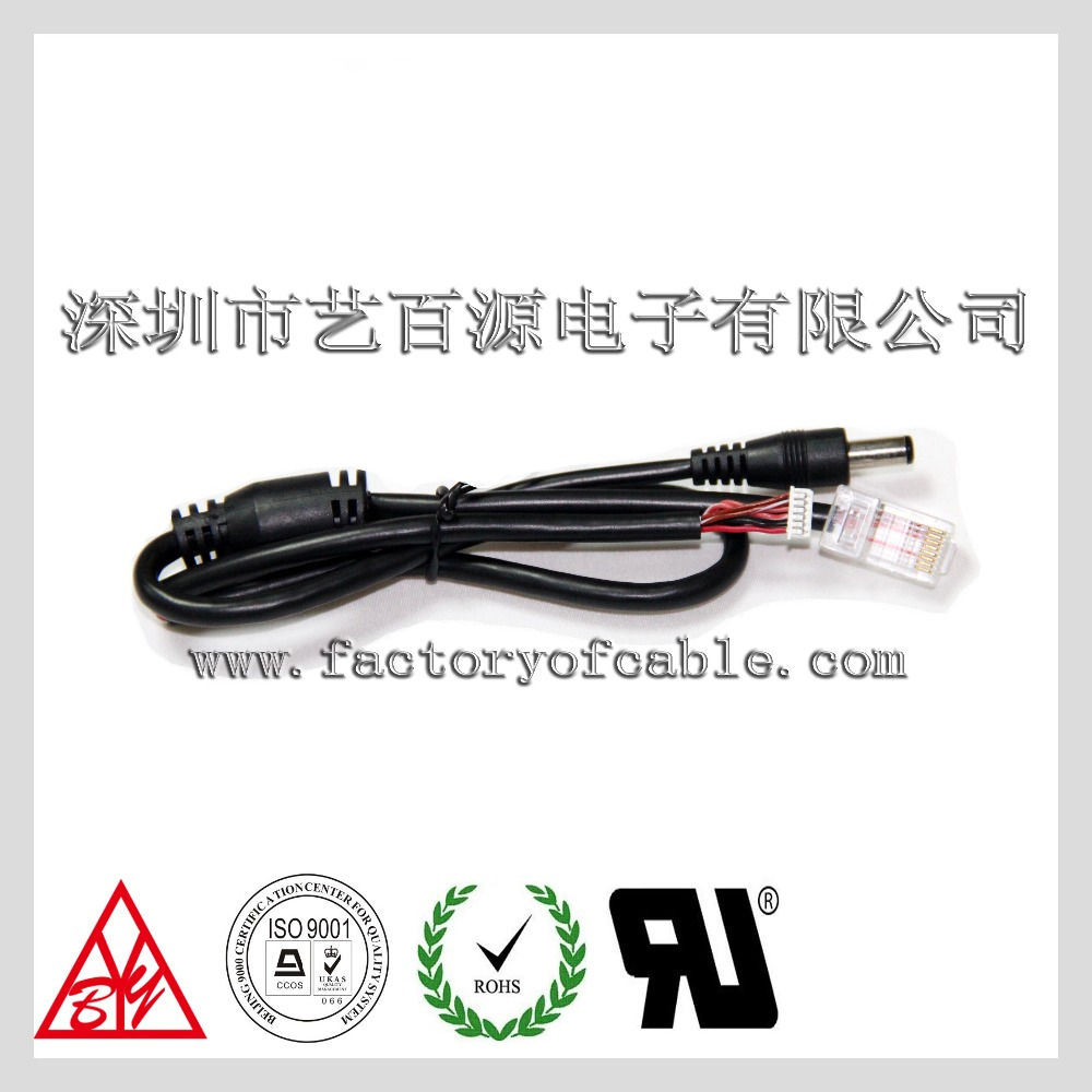 China Factory Customize DC Power RJ45 Crystal Network jumper Cable