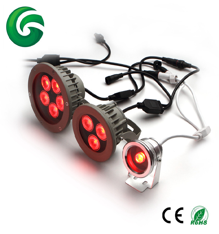Outdoor DMX/RF Controlled RGBW RGB LED Garden Light with 3 years warranty