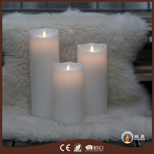 Factory sale excellent quality cheap pillar moving flame led candles