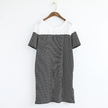 Black and white stripe hallow girl bf photo latest tops for girls with embroidered pockets