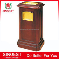 Hotel Supplies decorative indoor wooden trash bin, dustbin