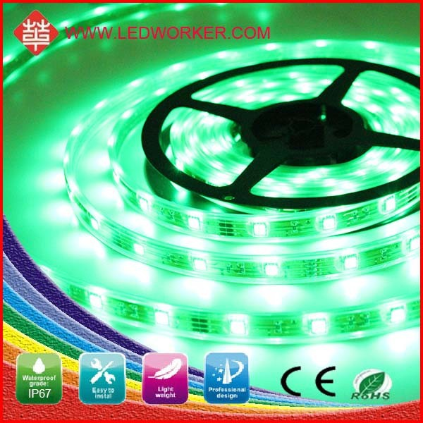 Long life motorcycle led lighting 5050 SMD 300pcs 5M Length led strip light (Non-waterproof), Green color, Blue color available