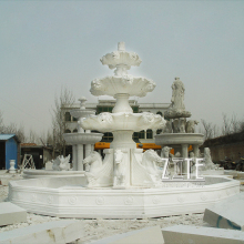 Modern Garden Decorative Marble Water water fountain with three tiers