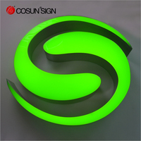Luminous led characters sign | Colorful led epoxy resin letters sign | Led epoxy light letters sign