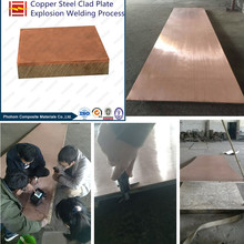 Copper Steel Clad Plate with Explosion Welding Technology