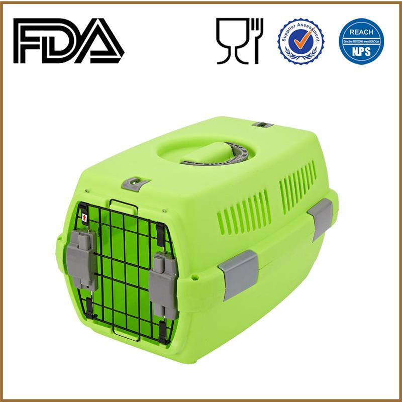 Pet products animal transport boxes plastic dog cat cage