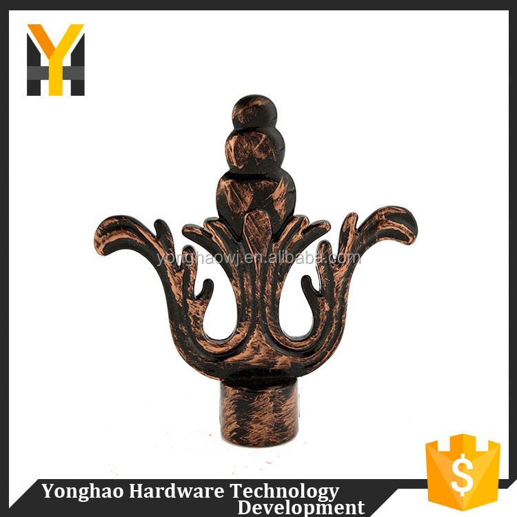 Directly sale adjustable cheap finials decorative curtain rods finial