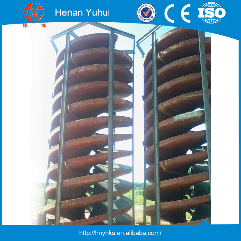 Gold gravity separation use spiral separator with best price