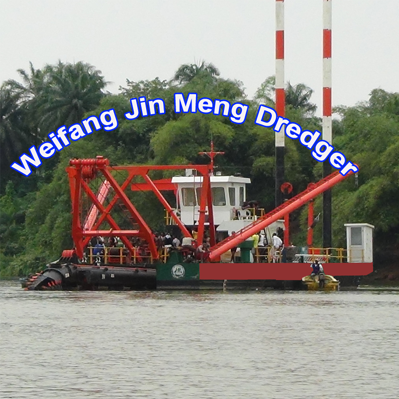 China hydraulic Sand cutter suction rive dredger in Bangladesh