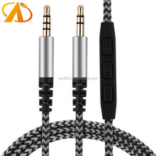 Replacement Audio Cable for Skullcandy Crusher Aviator 2.0 3.5mm Audio Cable with Mic and Volume Control 4.6ft/1.4m