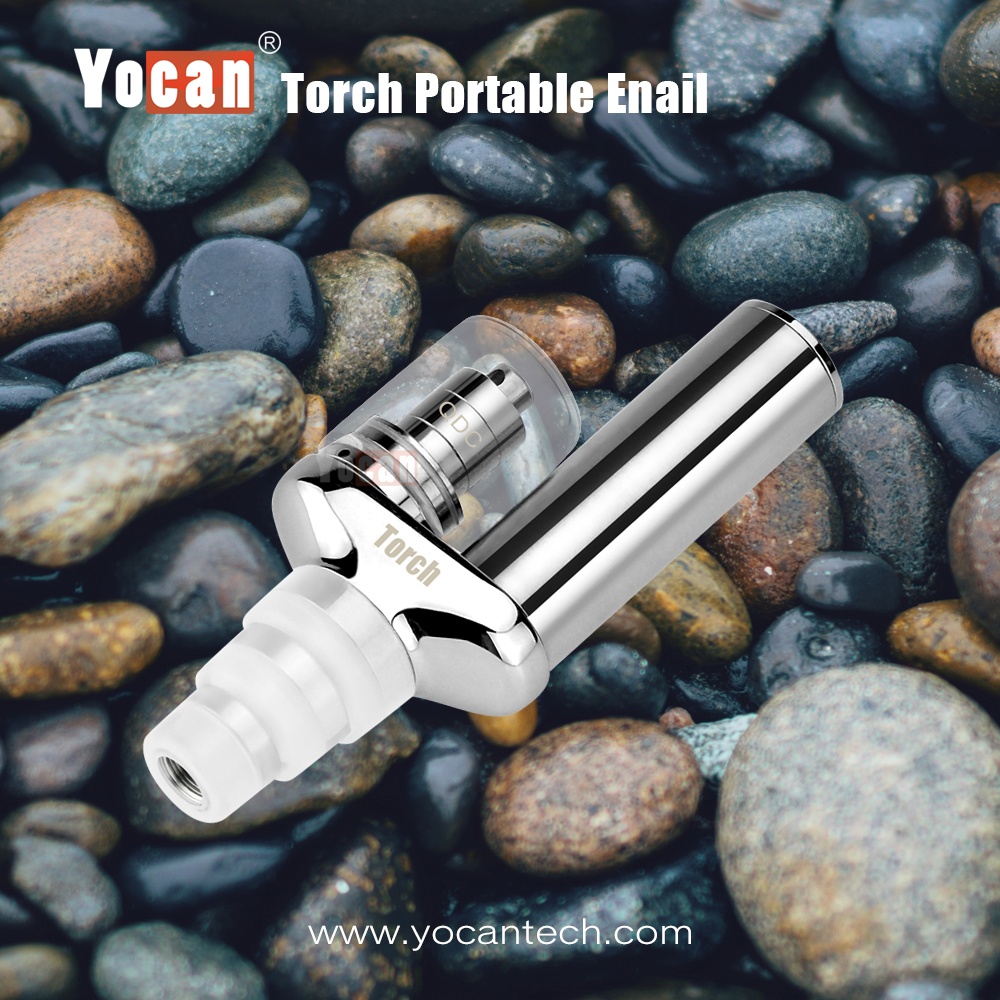 100% Original legal smoke herbs wholesale enail Yocan Torch 1100mah vapor starter kits with quartz two coil QDC technology