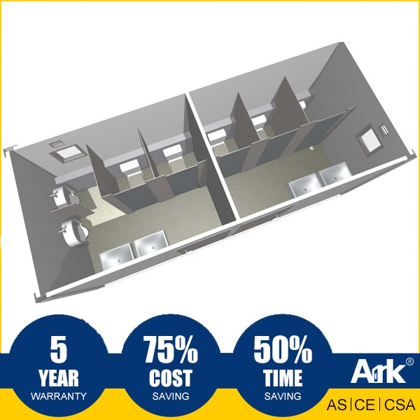 Ark Long Lifespan Flatpack Prefabricated Steel Top Quality Good Price municipal field Public restrooms