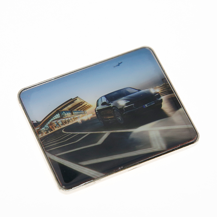 Wholesale zinc alloy metal custom print car logo fridge magnet