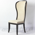 Wood high back fabric chair /high back fabric chair / high wing back fabric chair CH-499