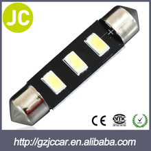 Auto accessory antique 12v led reading lamp 42mm car dome 5630-3smd led bulb light 12month warranty