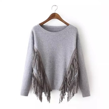 MS67212W wholesale tassel sweater ladies young fashion clothing