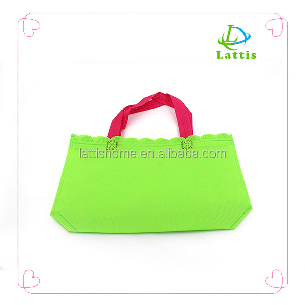 Bright Green Color Bag Cotton Canvas Shoulder Tote Shopping Bags With Logos