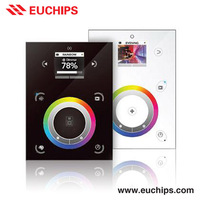 buy cheap price from Euchips free software dmx512 2 channel rgb touch panel led controller