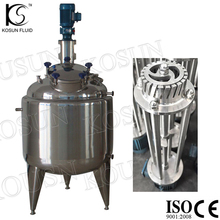 Stainless steel sanitary high shear emulsifying mixing tank