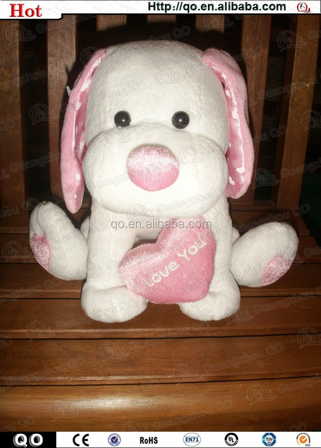 2015 high quality wholesale competitive price Valentines stuffed plush dog toy