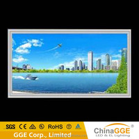 High definition and brightness light advertising panel with uniform light