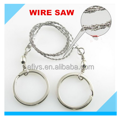Stainless steel wire saw rope custom multi Universal wire saw blade cutting for Wood Wild survival
