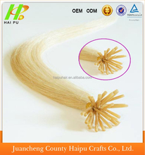 Wholesale pre-bounded keratin I tip hair extension 100% remy brazilian human hair extension