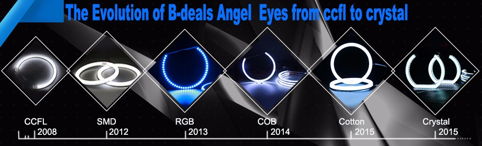 B-deals Factory Offer High Quality Car LED Angel Eyes E46 Headlight Switchback White&Amber