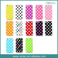 Fashion TPU Rubber Polka Dots Case for iPhone 6