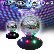 Birthday party led rotating disco mirror ball decoration supplier
