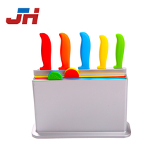 kitchen 9 pcs knife set with plastic cutting board