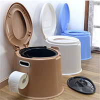 Eco-friendly the old and disabled people dedicated plastic portable mobile toilet