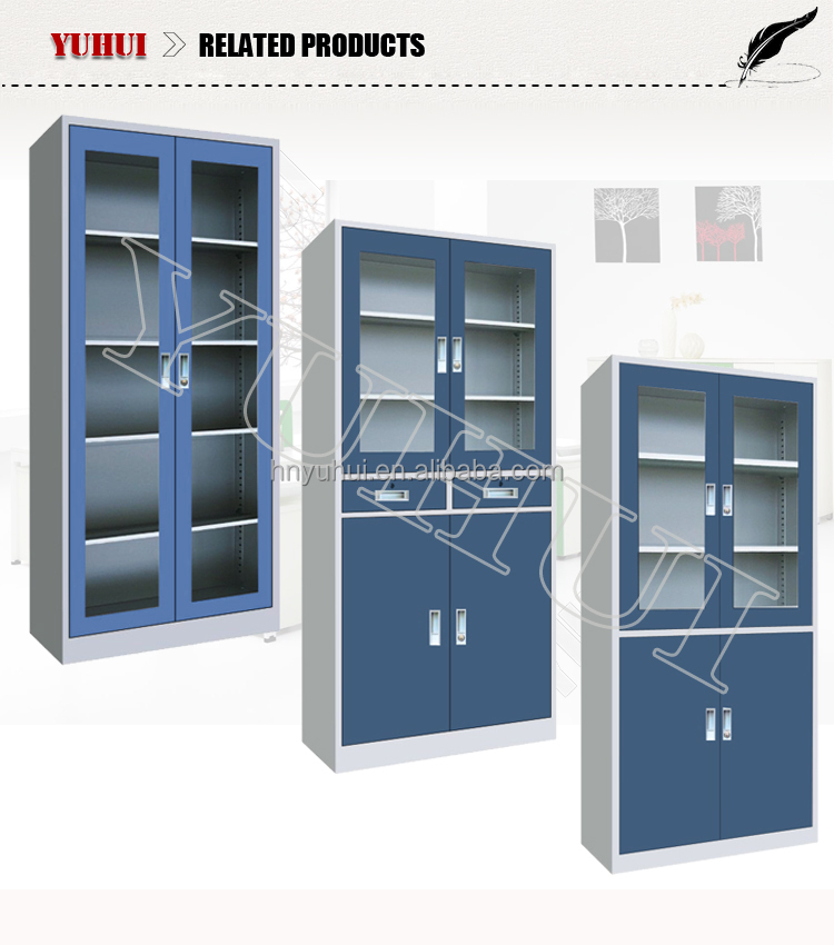 ... OEM Steel Book Cupboard / Metal Material Book Cabinet Without Doors