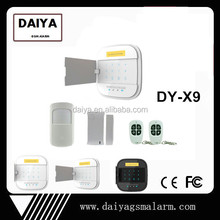 DAIYA gsm sms based security alarm system with gsm+wifi app and support contact ID DY-X9