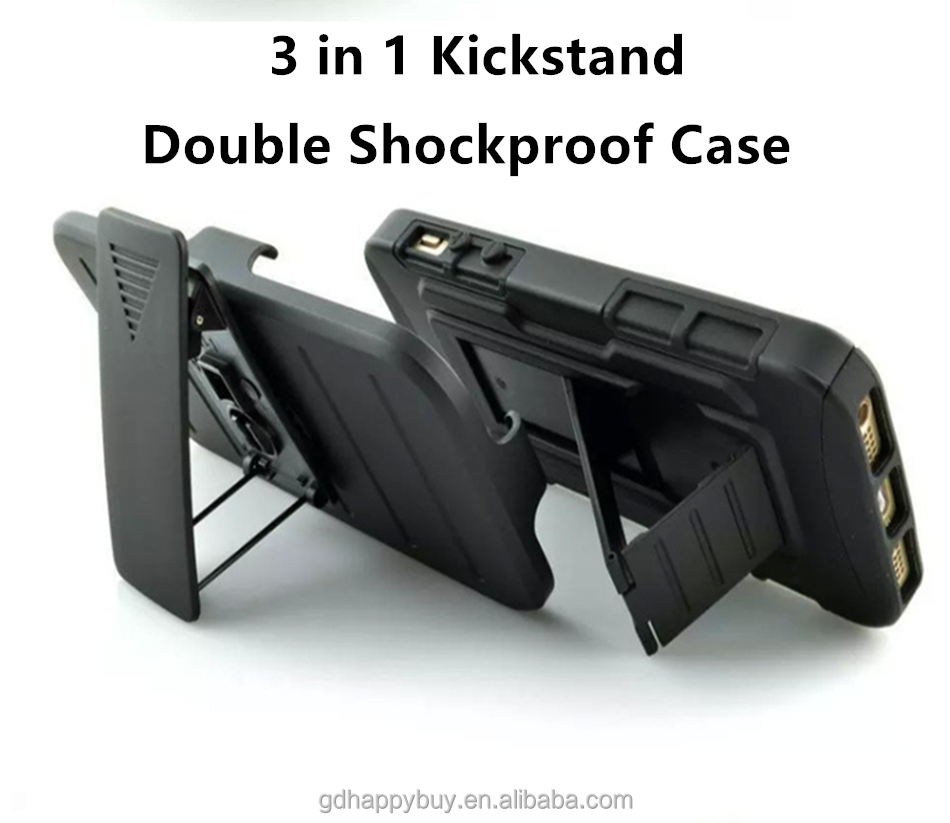 Double shockproof design protective kickstand rugged mobile phone cases for iphone 6 and 6s for iphone 6s plus case cover