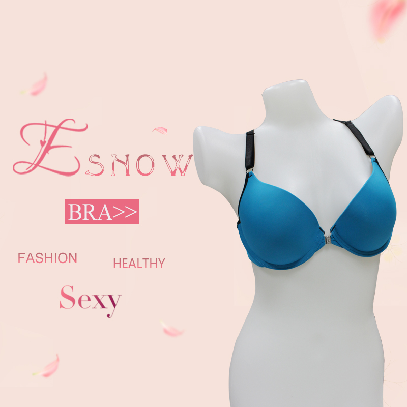 2017 Lastest Fashion Contrast Color lingerie Women Sexy Underwear Model Front Opening Elasticity Bra