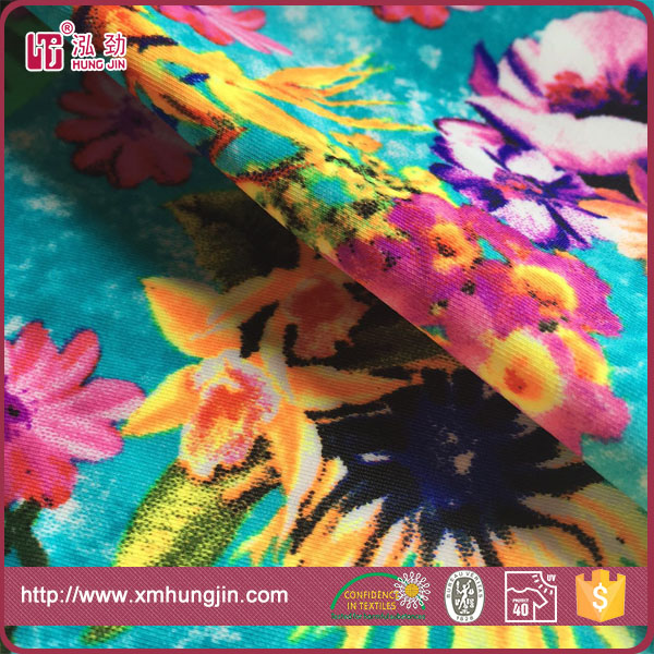 82/18 polyamide spandex floral printed lycra fabric for swimwear