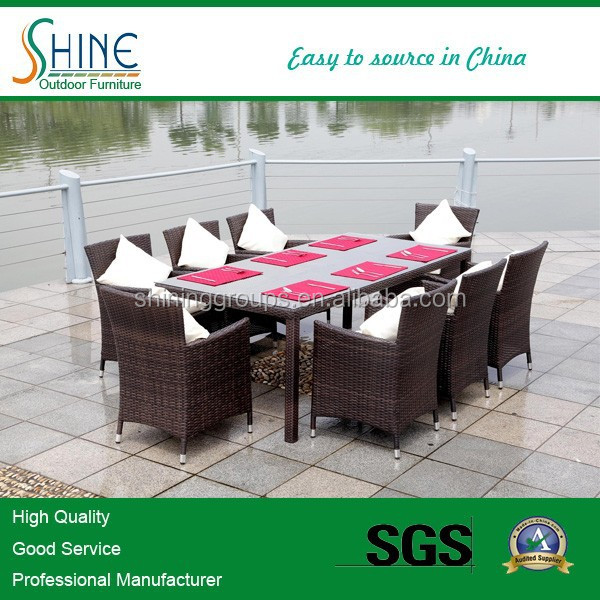 Hot Selling Rattan outdoor furniture wicker dining set cane furniture SF1028