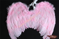 Girls Party Decoration Handmade Pink Goose Feather Angel Wings
