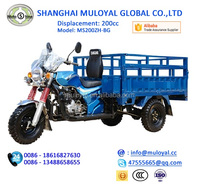 MotoShine Blue Color Wide Use Tricycle for Cargo and Passenger