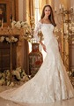 IA16208 Elegant customerized off-shoulder sleeveless lace decoration long train tail mermaid wedding gown