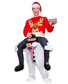 CE Xmas Coming Santa Claus Mascot Costume Carry Me Character ride on character costume