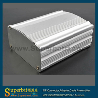 BOX-1177 anodizing aluminum extrusion distribution box with 46x84x110mm