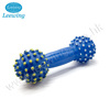 Wholesale Durable Blue Dumbbell Plastic Bone Dog Toy